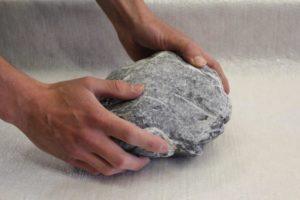 Sammeln von schönen Stein Elementen